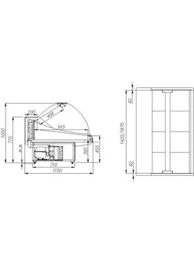 Витрина универсальная Полюс ВХСр-1,5 ЭКО maxi фото, купить в Липецке | Uliss Trade
