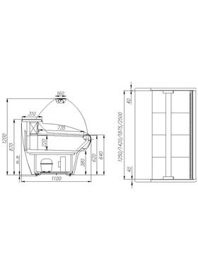 Витрина холодильная Полюс Carboma ВХС-2,5 фото, купить в Липецке | Uliss Trade