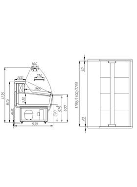 Витрина холодильная Полюс Эко ВХС-1,2 фото, купить в Липецке | Uliss Trade