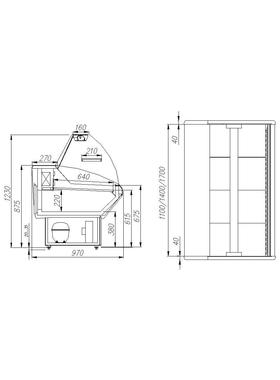 Витрина холодильная Полюс ВХС-1,8 фото, купить в Липецке   Uliss Trade