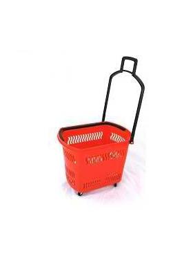 Корзина-тележка на 4-х колесах пластиковая PBT45 фото, купить в Липецке   Uliss Trade