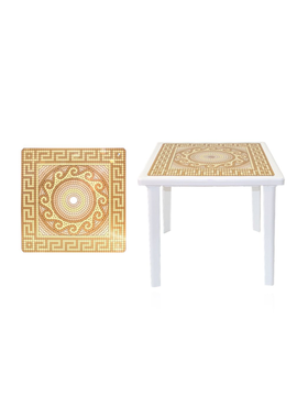 Стол квадратный с деколем 800х800х710мм фото, купить в Липецке | Uliss Trade